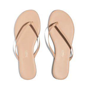 Tkeess Nude Leather Sandal Flip Flops Sz 9